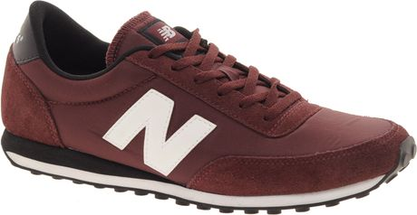 New Balance 410 Burgundy Trainers in Red (burgundy) - Lyst