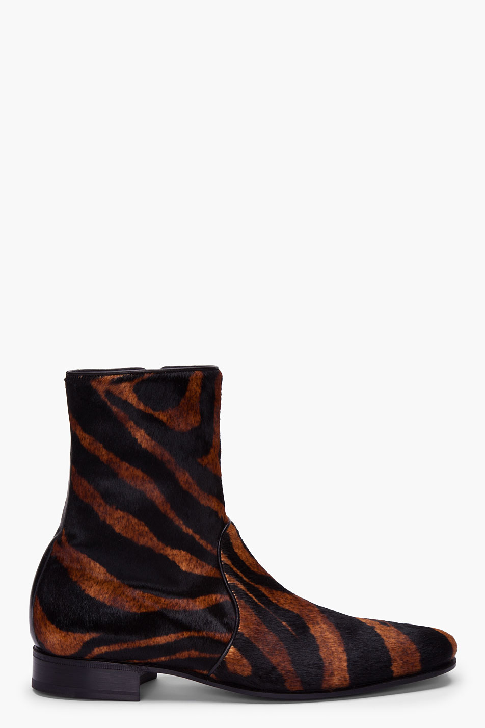 Pierre Hardy Tiger Print Calfhair Boots For Men Lyst
