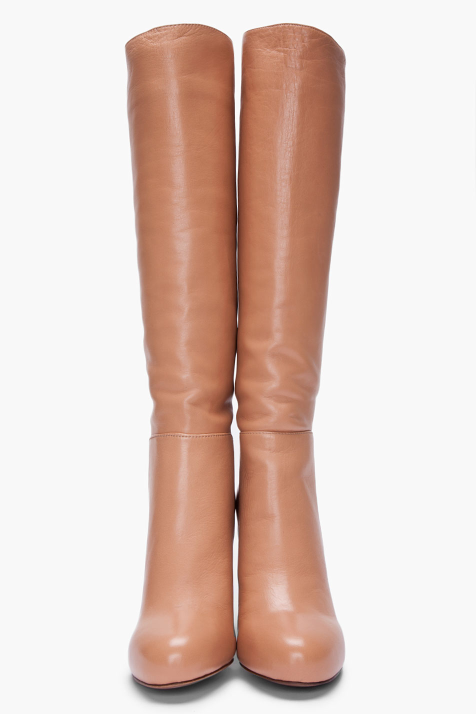 See by chloé Beige Kneehigh Boots in Natural | Lyst