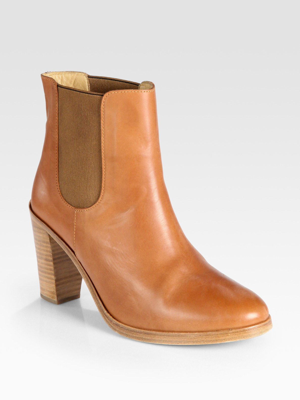 74665bcc8cb74 A.P.C. Brown Leather Ankle Boots