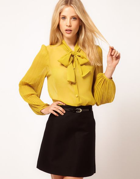 Yellow Blouse With Bow 119