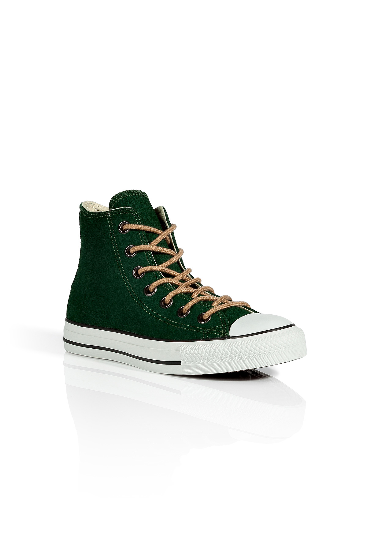 efb701ca541e Lyst - Converse Kombu Green Suede Chuck Tailor Hi Sneakers in Black