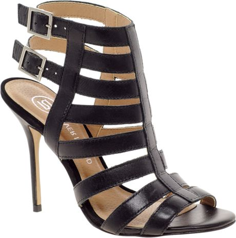 79d0242d7e1a River Island Olivia Caged Heeled Sandals in Black