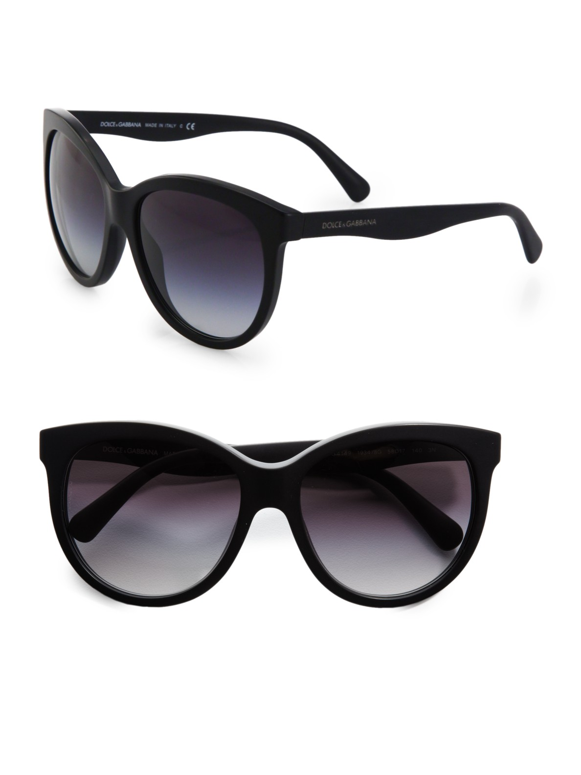 d304a700f84 Lyst - Dolce   Gabbana Oversized Cats-Eye Acetate Sunglasses in Black