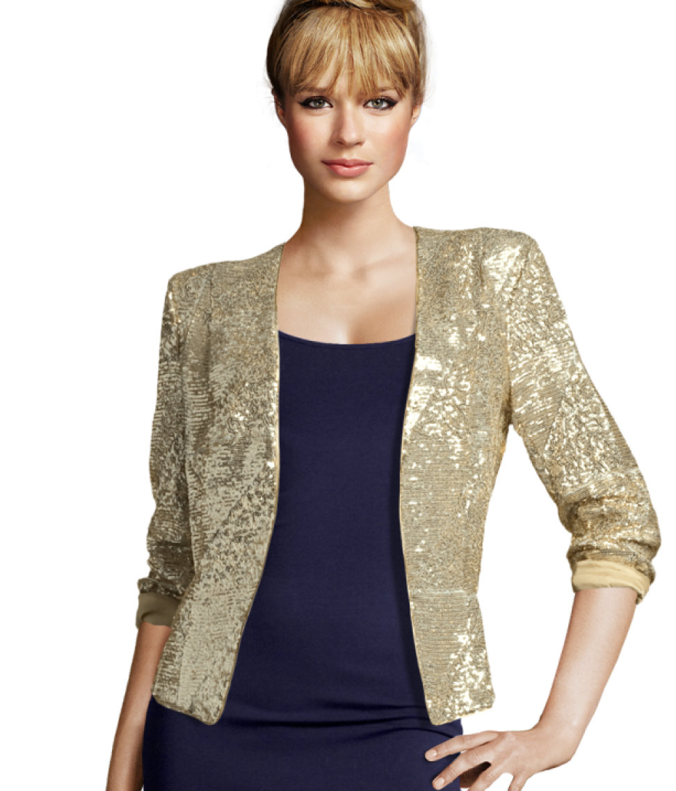 H&m Jacket in Metallic | Lyst