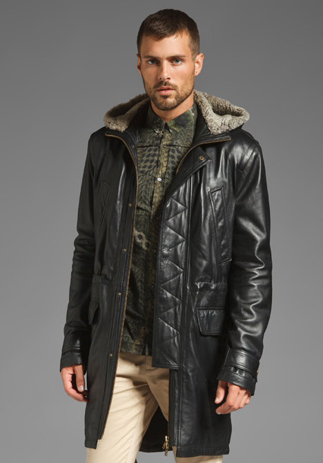 Mens Leather Parka Coats - JacketIn