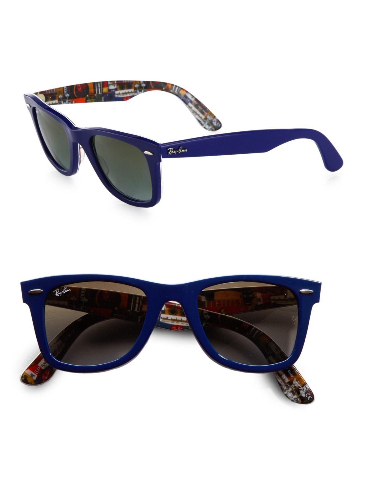 Lyst Ray Ban Classic Wayfarer Guitar Print Sunglasses In