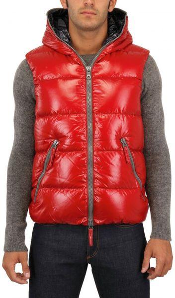 Duvetica Aristeo Shiny Nylon Vest In Red For Men Lyst