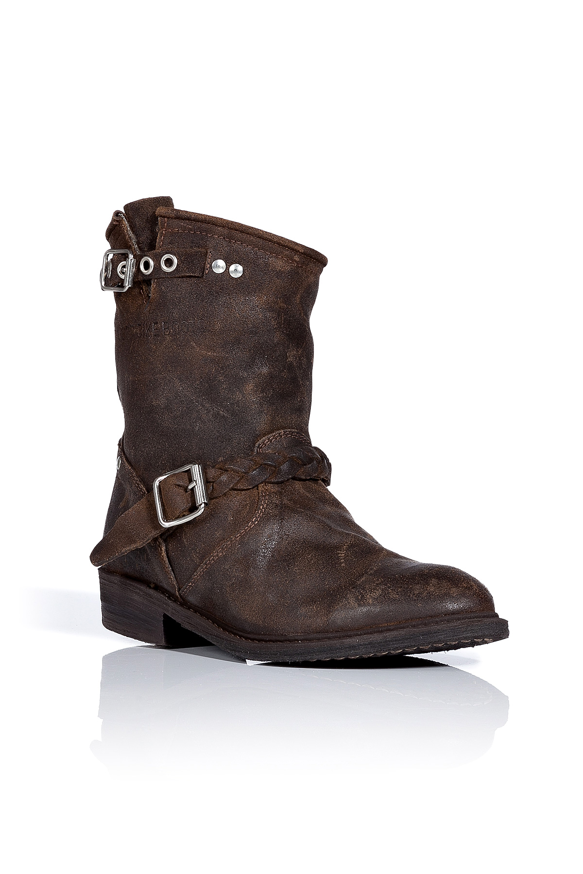 golden goose deluxe brand brown distressed leather wool