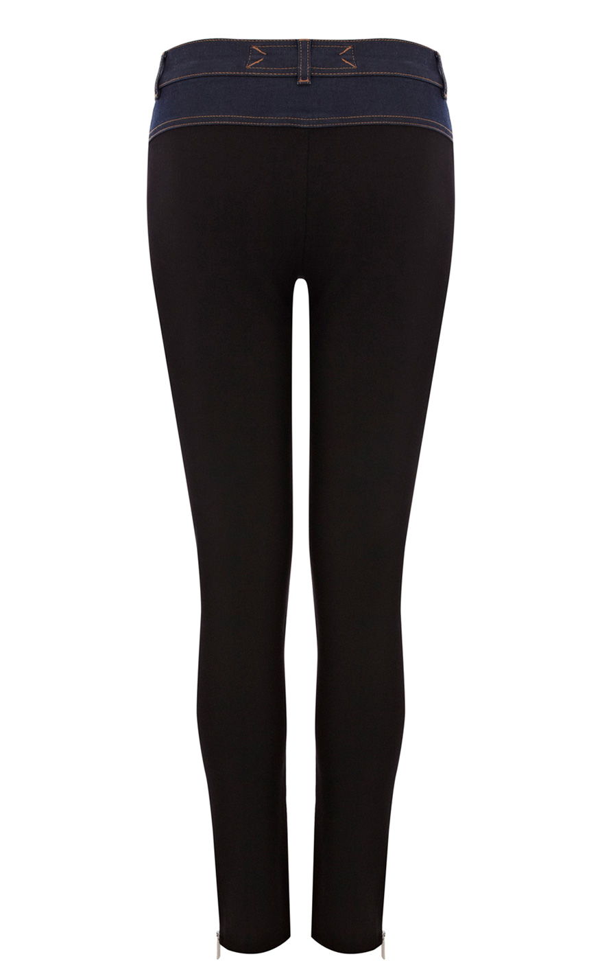 Karen Millen Dark Denim Jeans in Black (Blue)