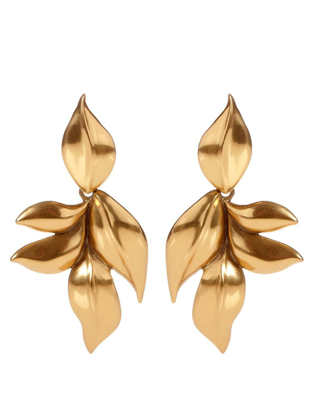 Oscar De La Renta Gold-plated Clip Earrings Ed6iUhrV