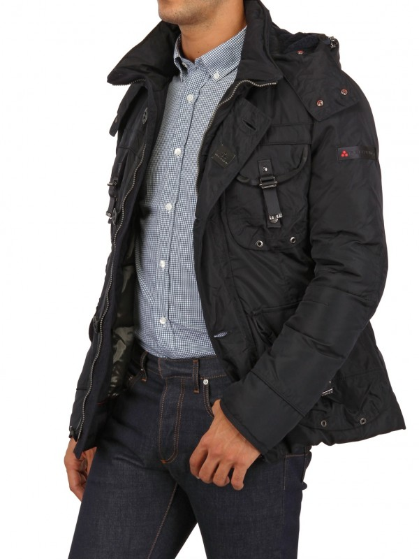 Lyst Peuterey Nylon Aviator Down Jacket In Blue For Men