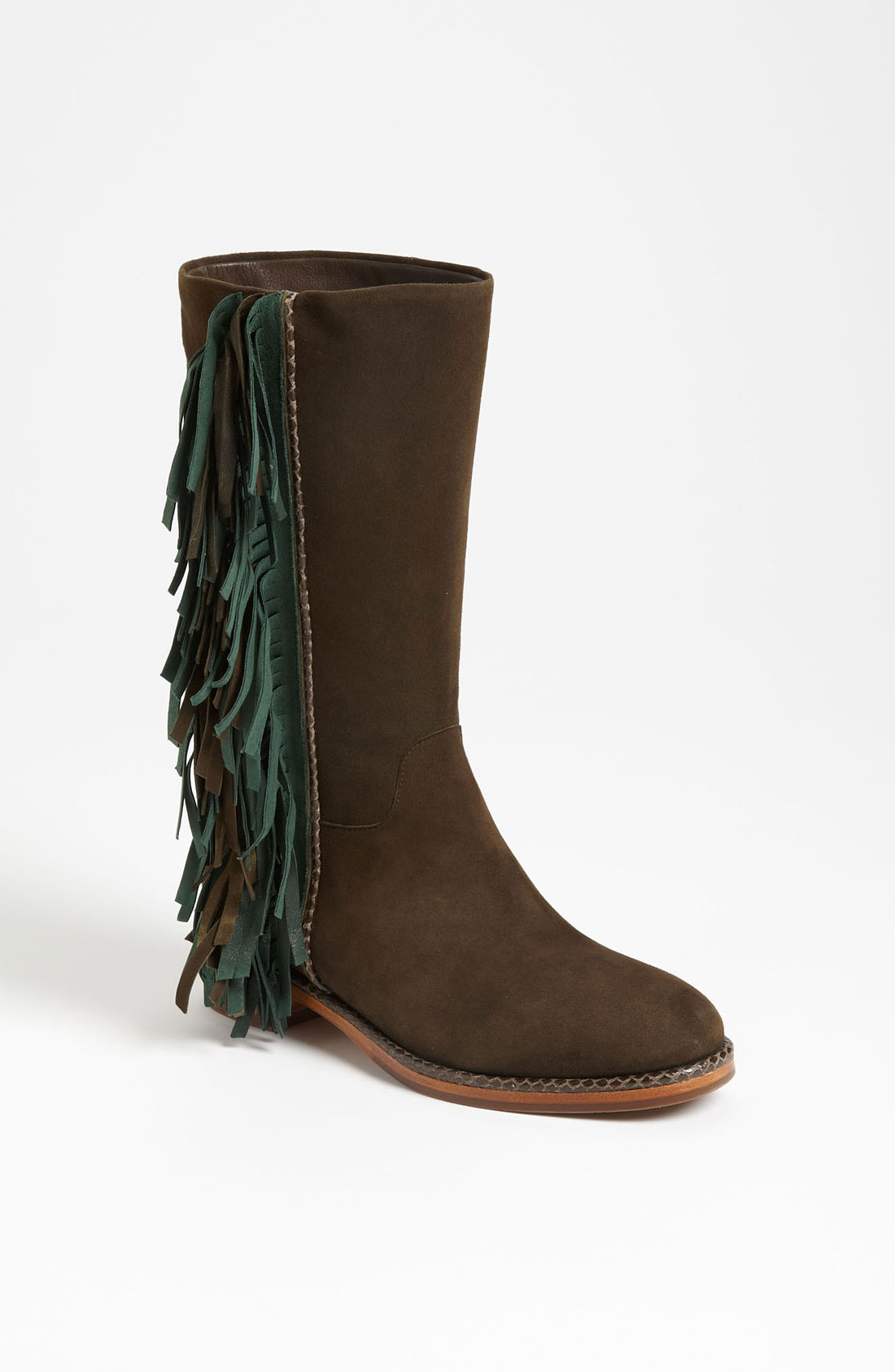 via spiga boot in brown lyst