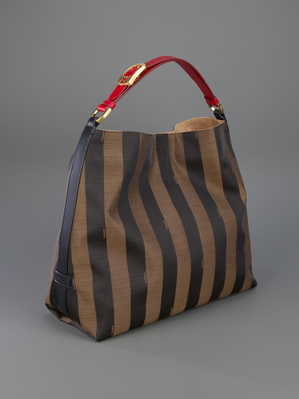 Fendi Pequin Bag In Brown Lyst