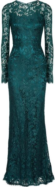 Dolce & Gabbana Lace Gown in Blue (petrol)