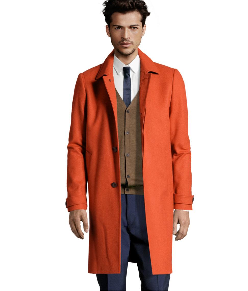 31040531b H&M Orange Coat for men
