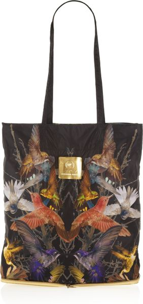 Mcq By Alexander Mcqueen Printed Shell Packaway Shopper in Multicolor (multicolored)