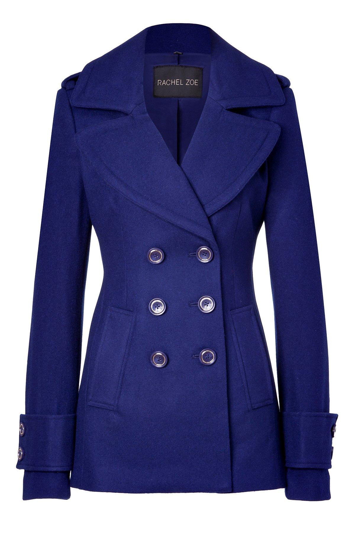 Rachel zoe Royal Blue Woolblend Fay Pea Coat in Blue | Lyst