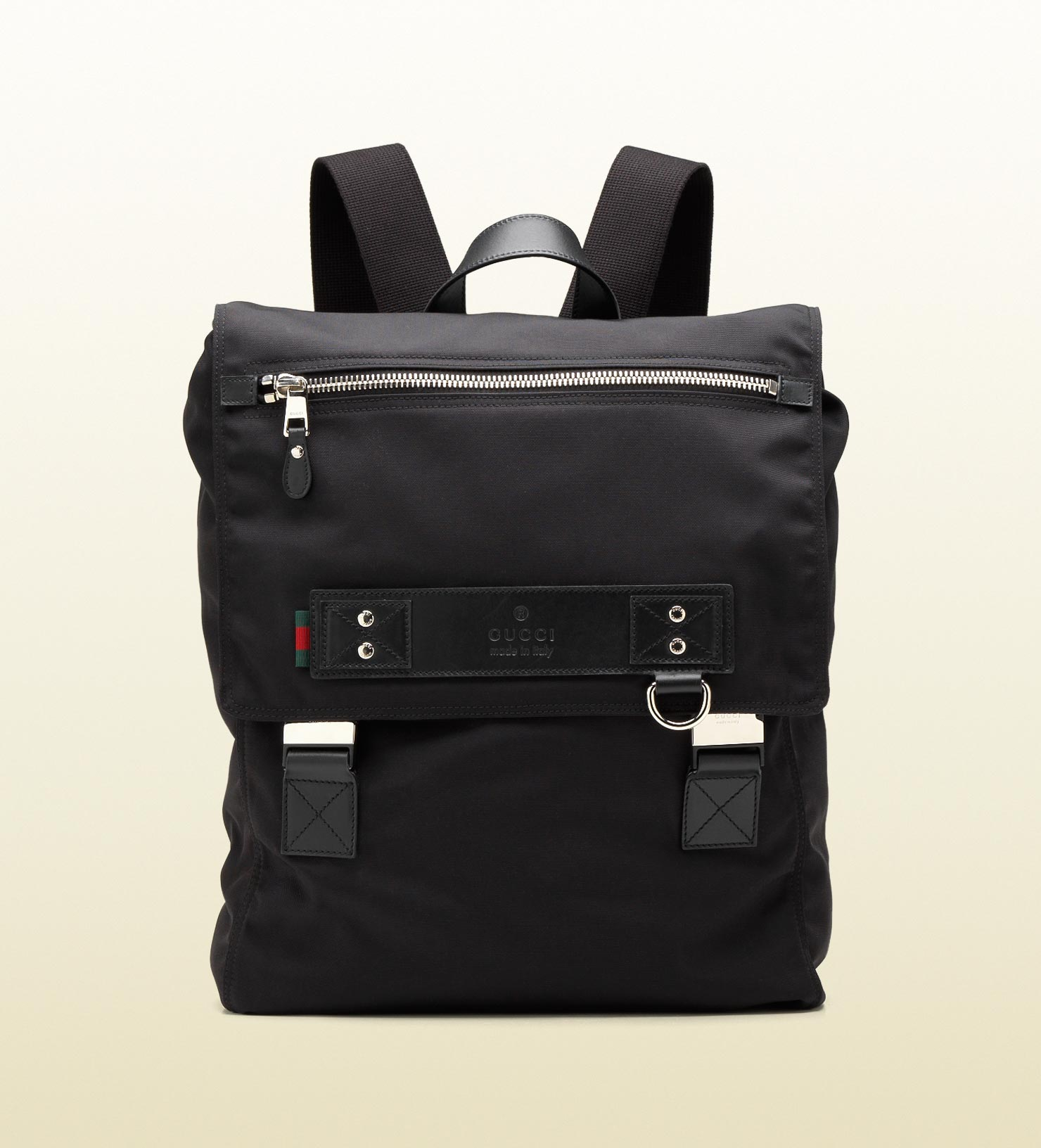 Gucci Backpack with Signature Web Loop in Black for Men - Lyst