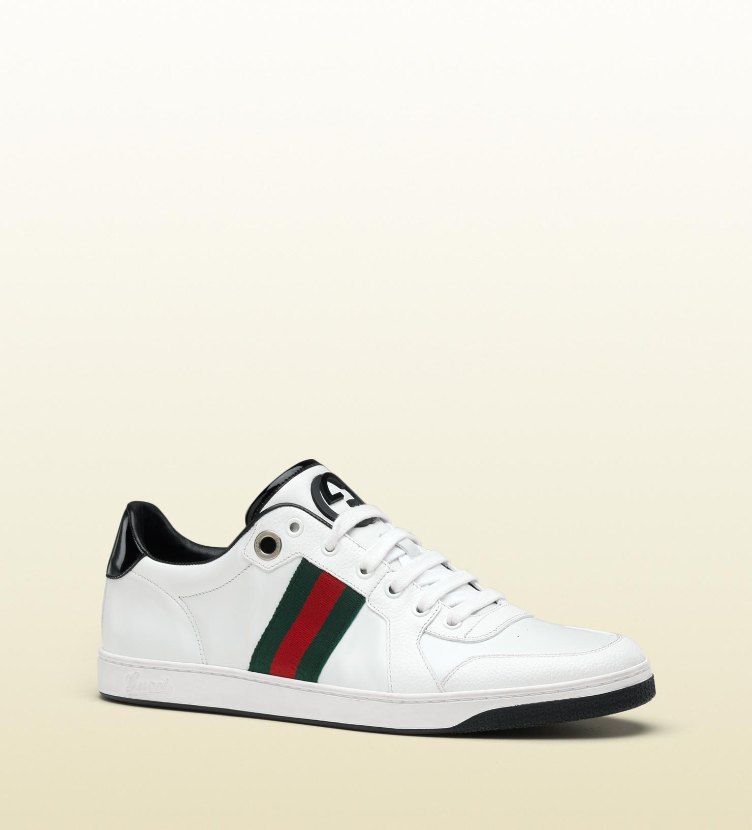 547f79704e8 Lyst - Gucci Lace-up Sneaker With Interlocking G And Signature Web ...