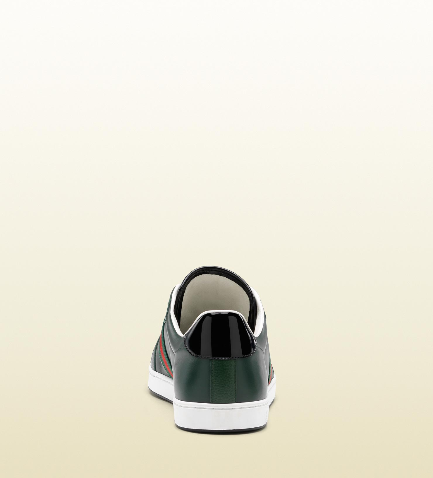 4dff0dd6f6517 Lyst - Gucci Laceup Trainer with Interlocking G and Signature Web ...