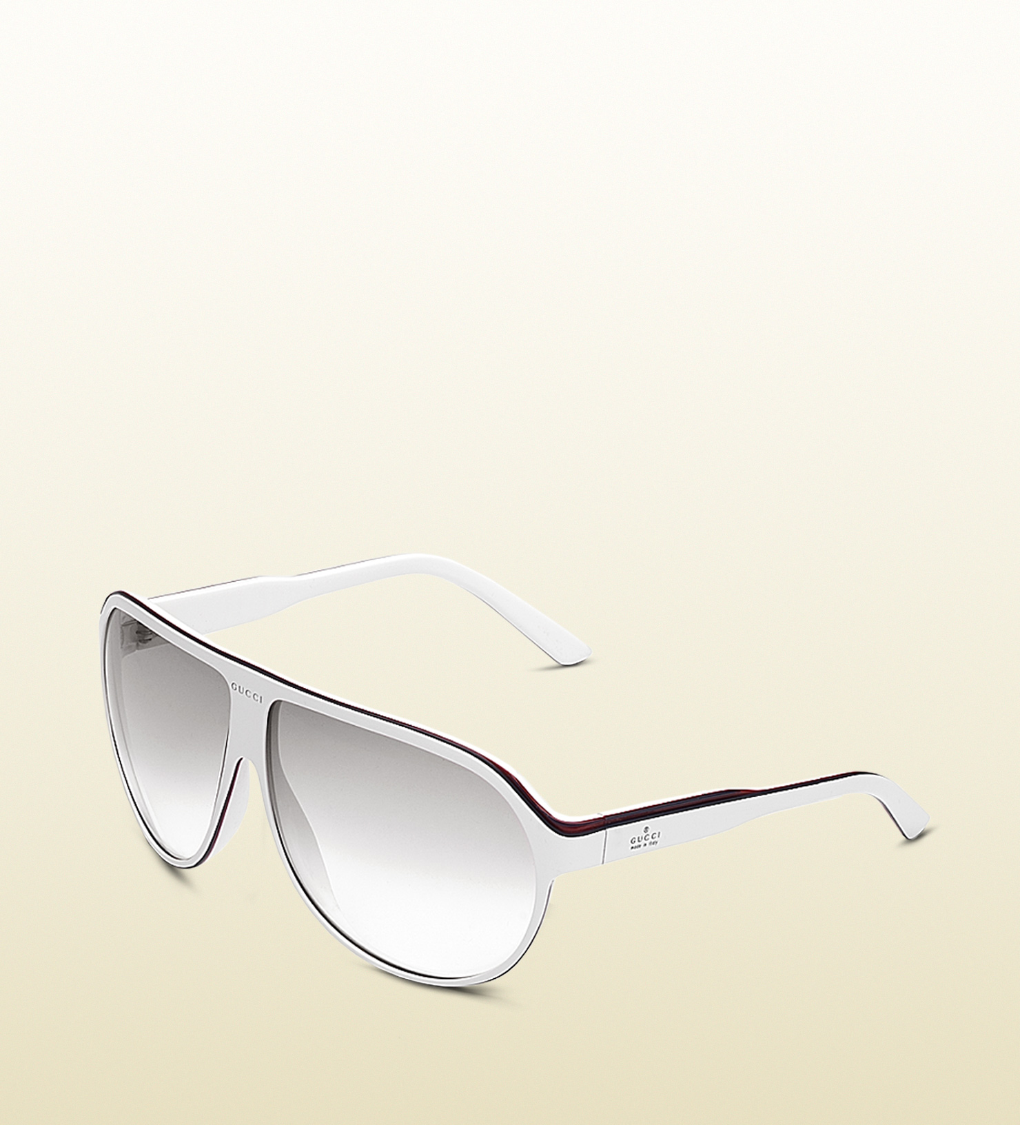 6e730254c91 Lyst - Gucci Large Aviator Frame Sunglasses with Gucci Trademark ...