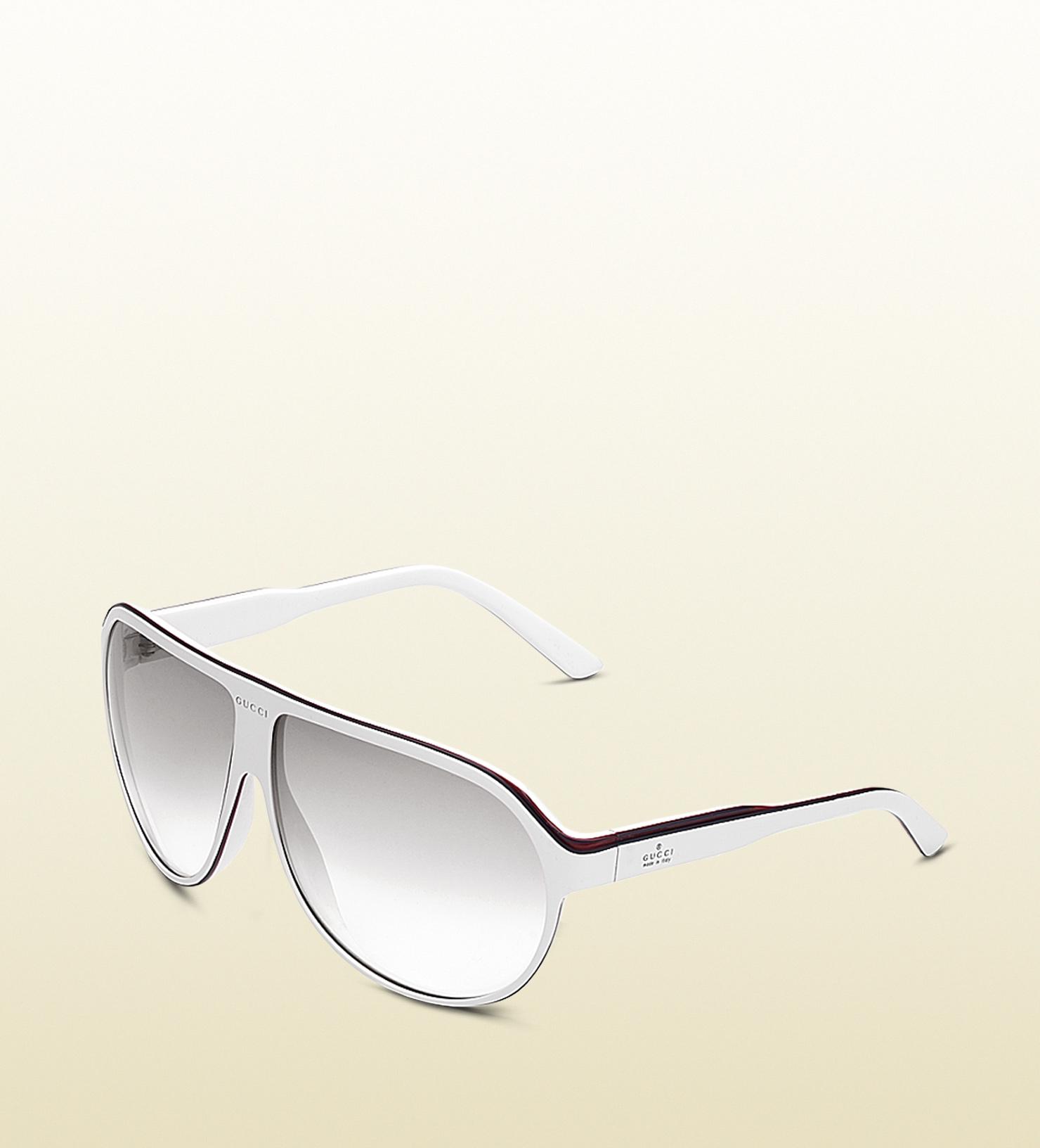 82e54e0ff9 Lyst - Gucci Large Aviator Frame Sunglasses with Gucci Trademark ...
