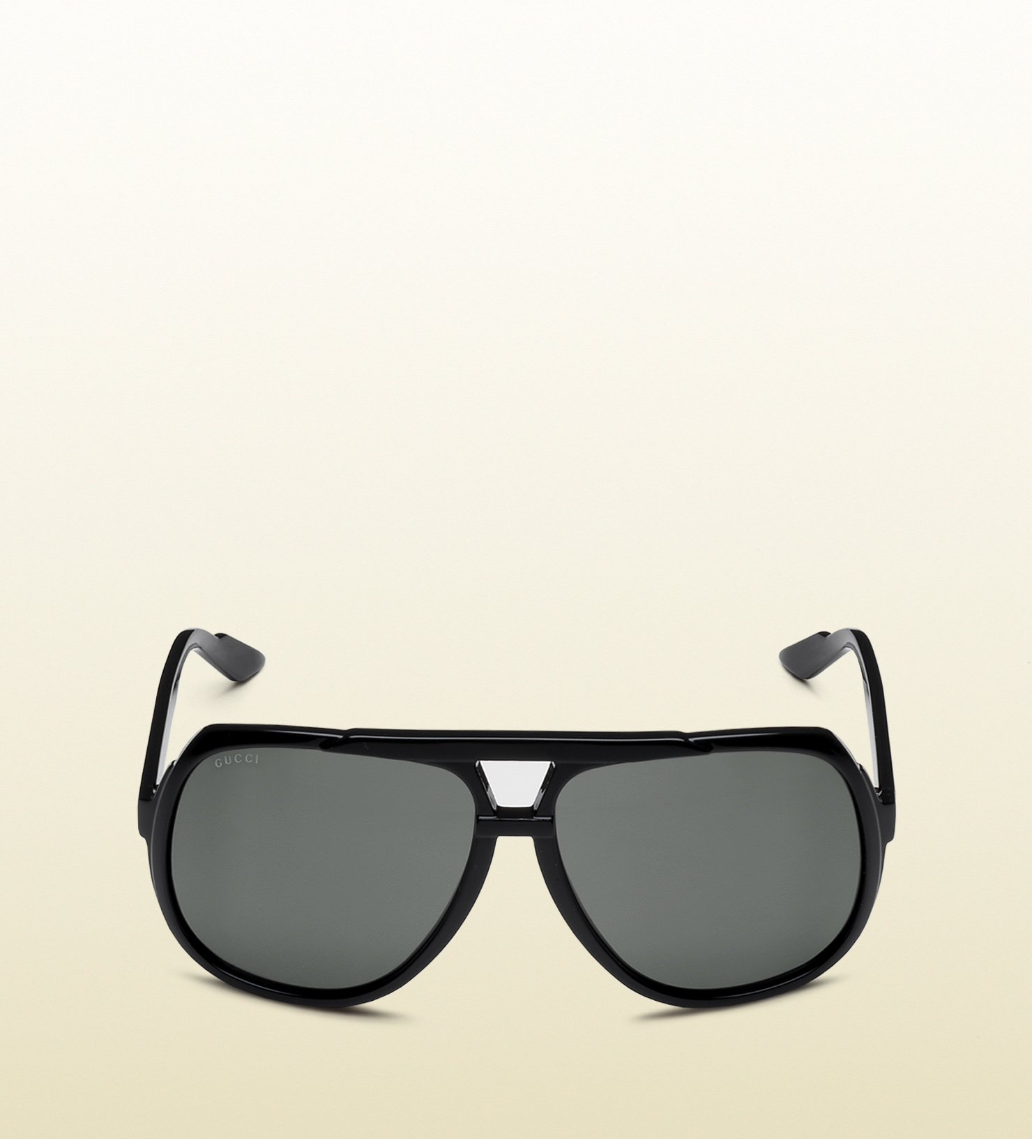 11dcbc156be3 Gucci Large Aviator Sunglasses With G Detail And Signature Web On ...