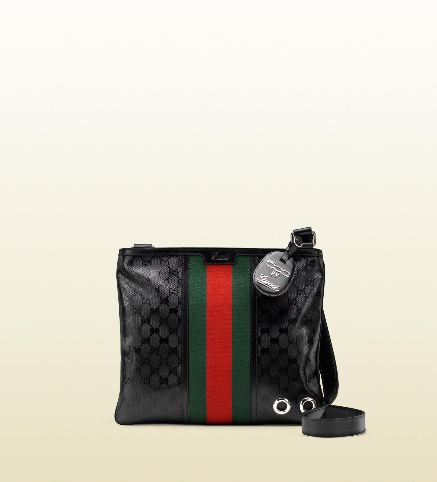 82cb3800c2f9be Gucci Medium Messenger Bag with Signature Web Detail in Black for ...