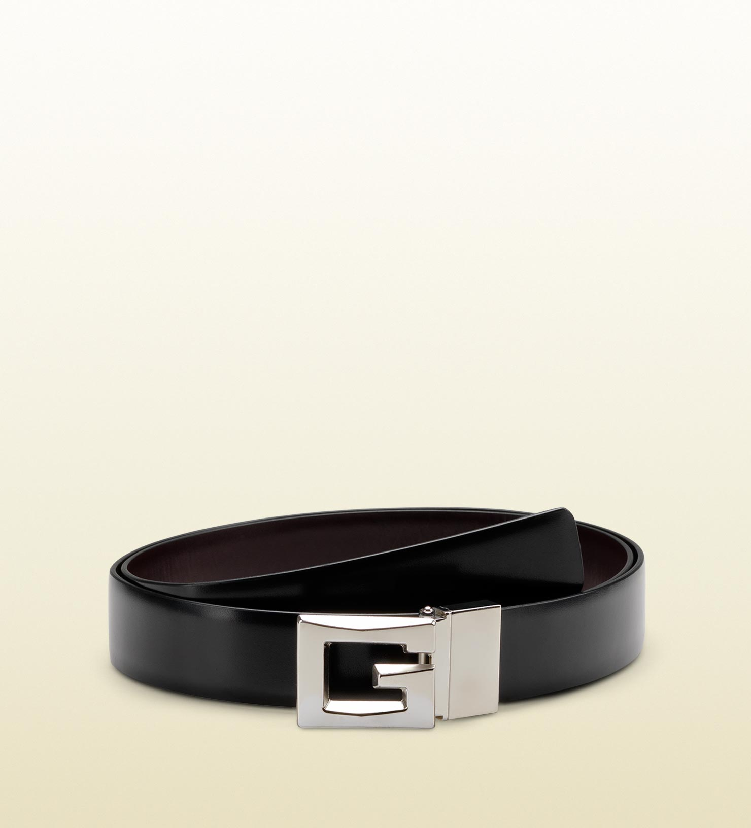 29b2b2e8a714cc Lyst Gucci Reversible Belt With Raised Square G Buckle In Black