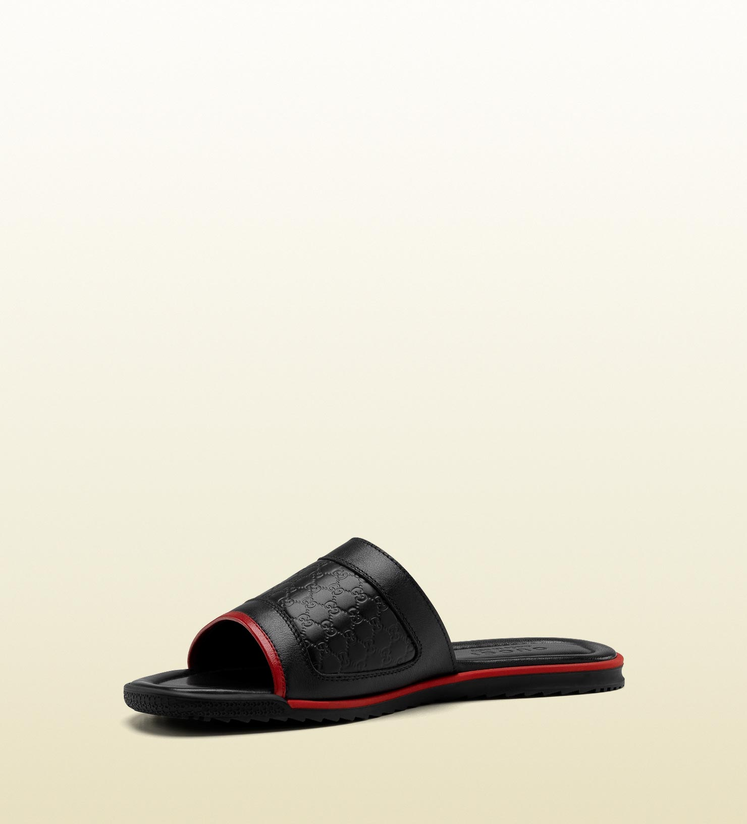 97c15688a7b0 Lyst - Gucci Slide with Signature Web Detail in Black for Men