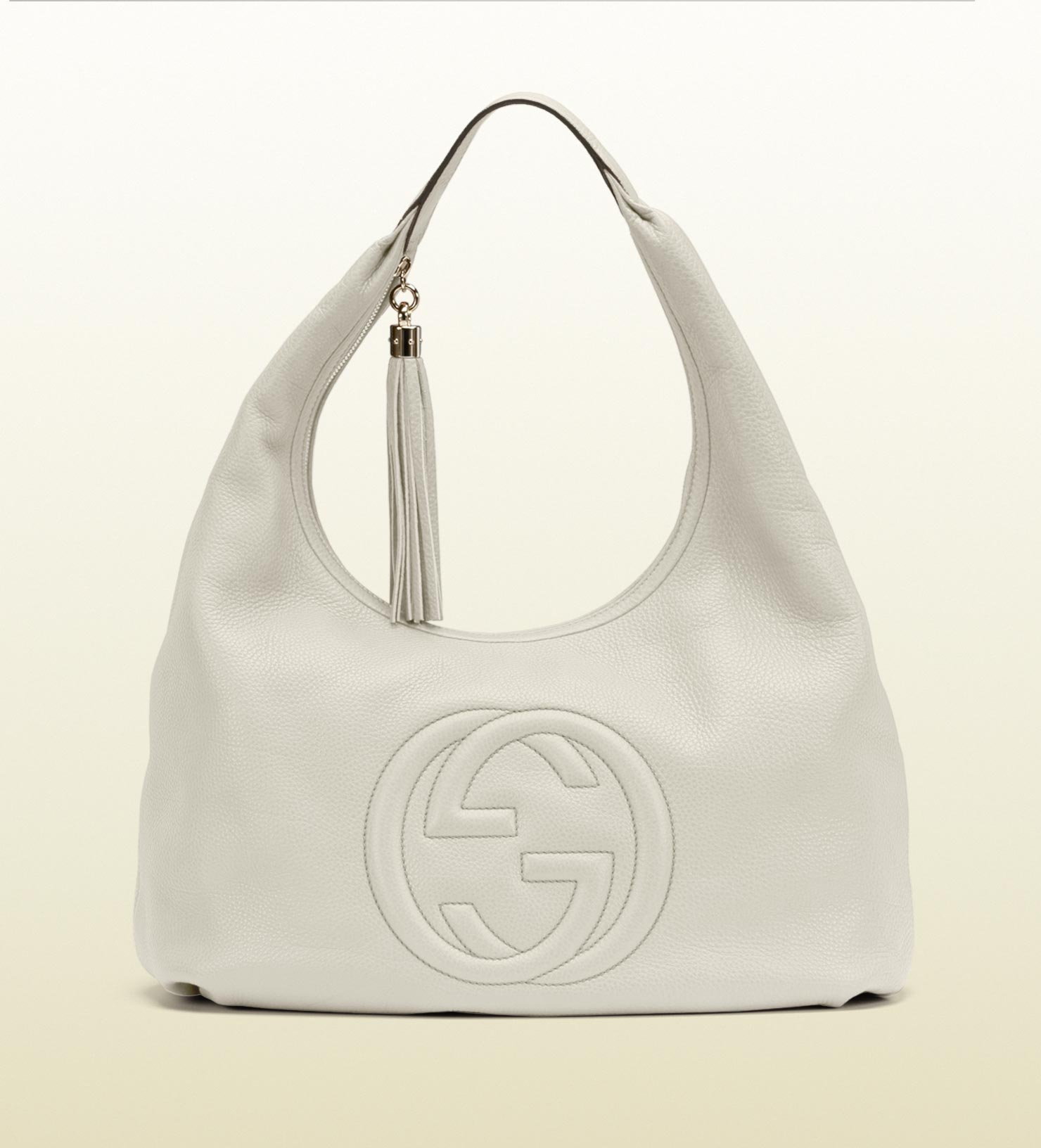 4b37c690cdb8 Lyst - Gucci Soho Hobo in Natural