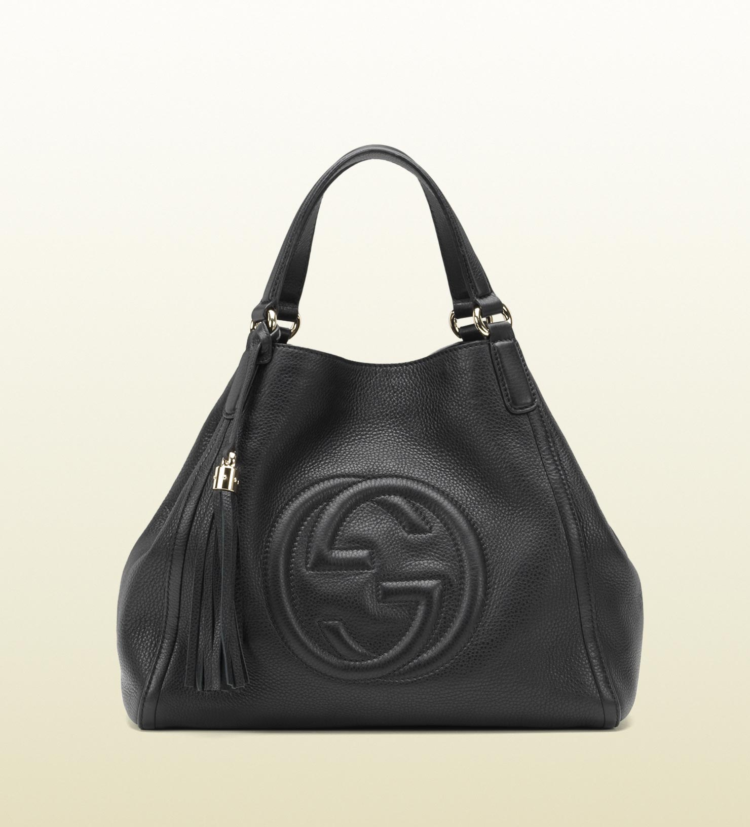 gucci soho leather shoulder bag in blue lyst. Black Bedroom Furniture Sets. Home Design Ideas
