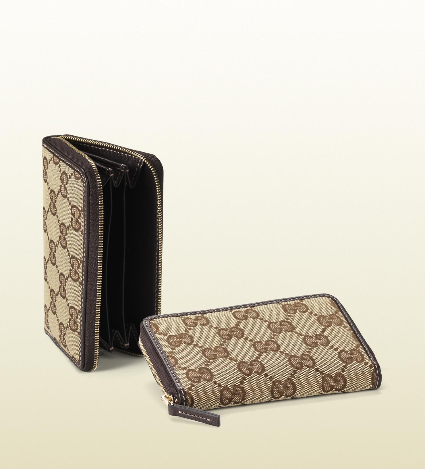 Gucci Original Gg Canvas Card Case in Brown for Men   Lyst