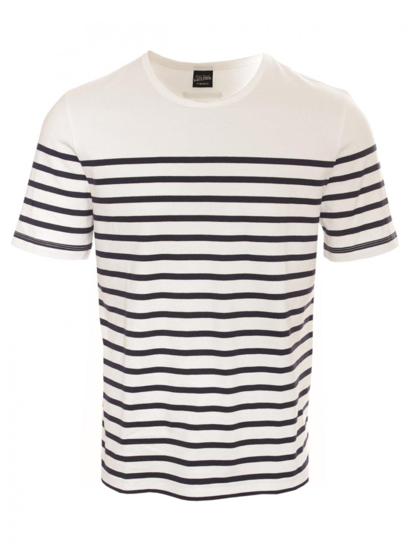 lyst jean paul gaultier stripe ss tshirt in white for men. Black Bedroom Furniture Sets. Home Design Ideas
