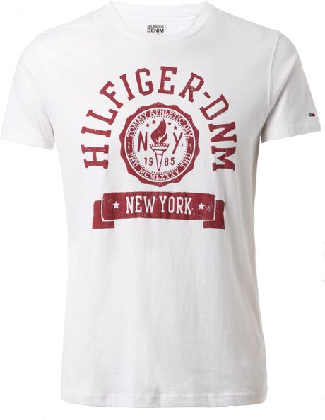 Tommy Hilfiger Federer Tshirt in White for Men
