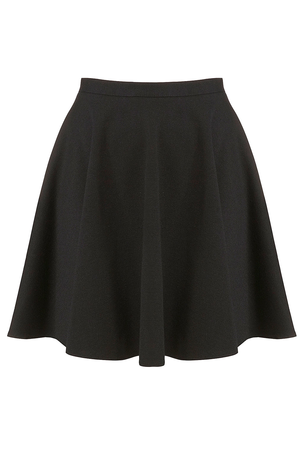 Topshop Black Milano Skater Skirt in Black | Lyst