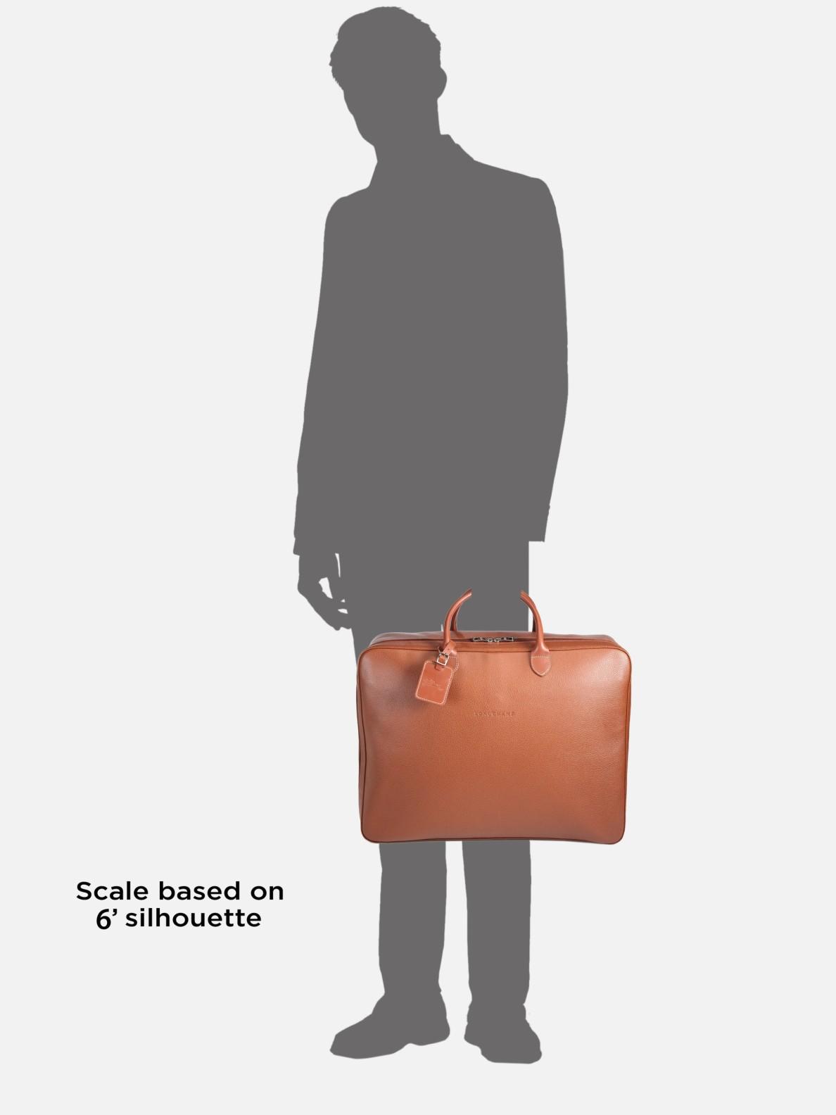 Veau Foulonne Leather Travel Bag