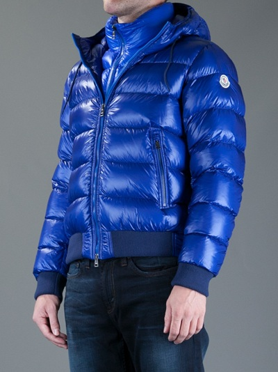 moncler marque jacket in blue for men lyst. Black Bedroom Furniture Sets. Home Design Ideas