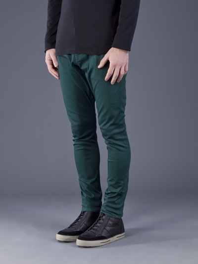 Unconditional Drop Crotch Jeans in Green for Men