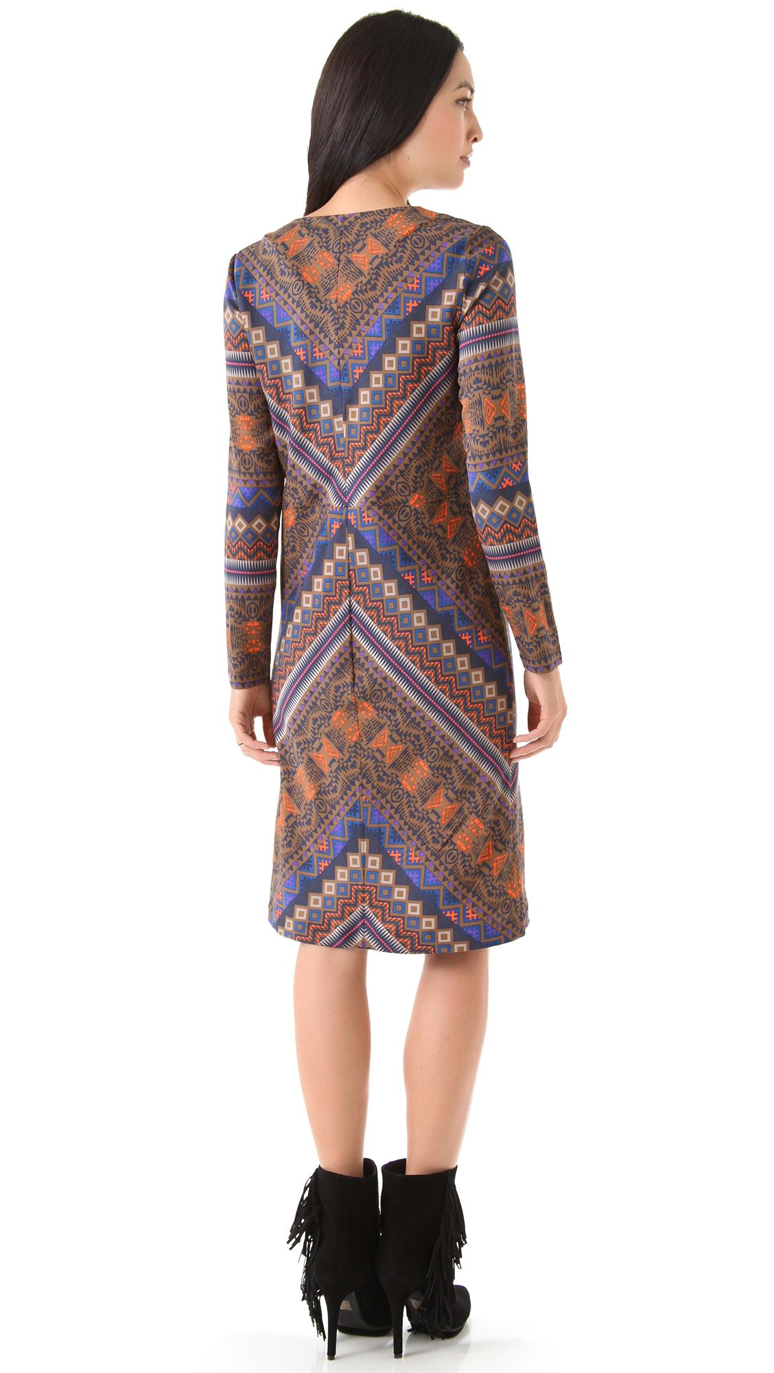 Lyst Antik Batik Bajna Babydoll Dress In Brown