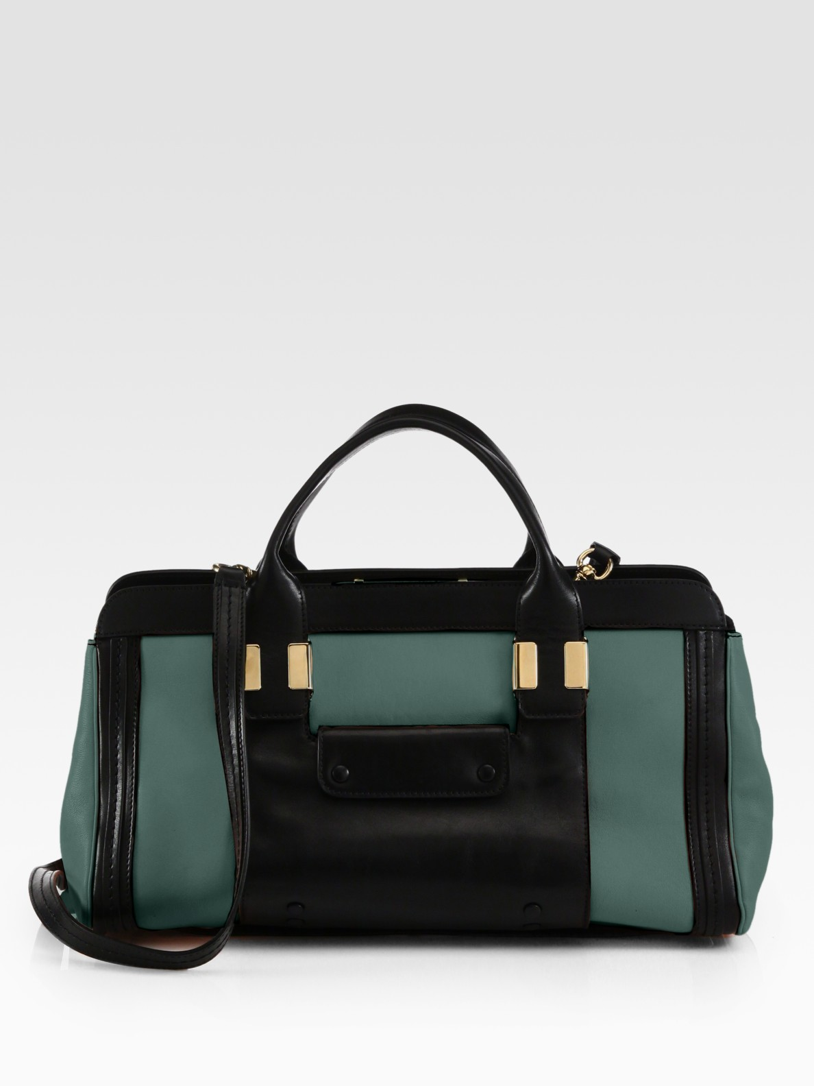 Lyst Chlo 233 Alice Springs Medium Leather Tote In Green