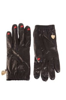Moschino Cheap & Chic Heart Finger Gloves - Lyst