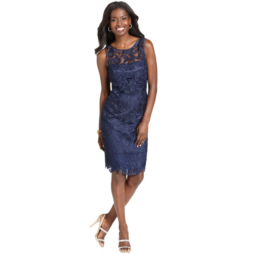 Find incredible Adrianna Papell Off Shoulder Lace Sheath Dress performance in an unbelievable value with this Adrianna Papell Off Shoulder Lace Sheath Dress.