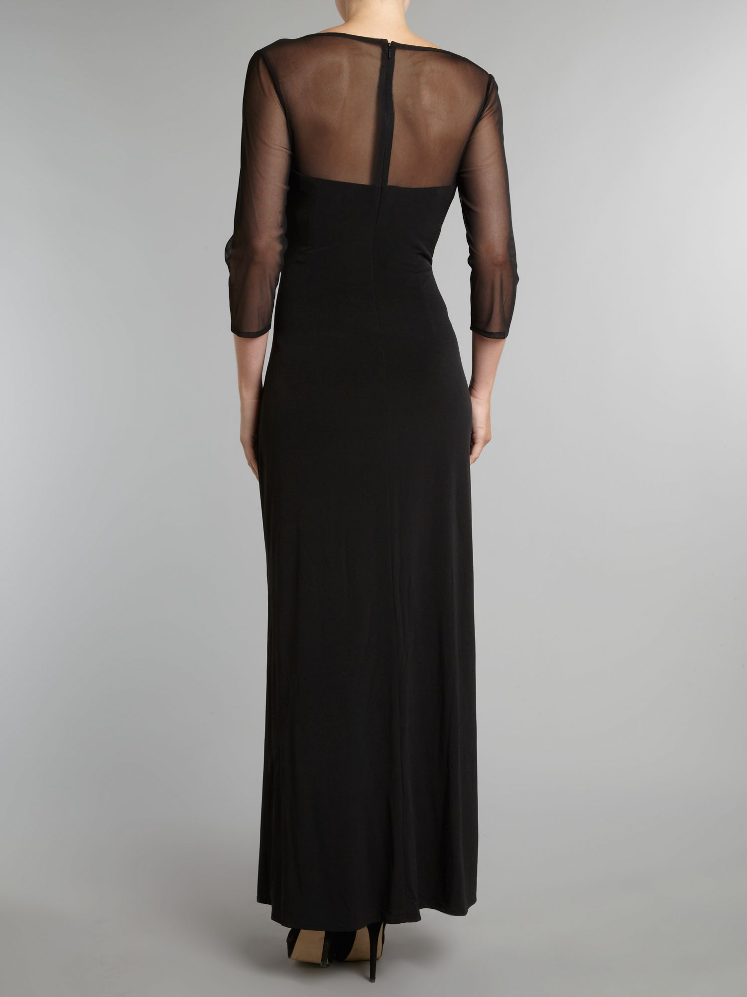 Js collections Sleeveless Evening Dress in Black - Lyst