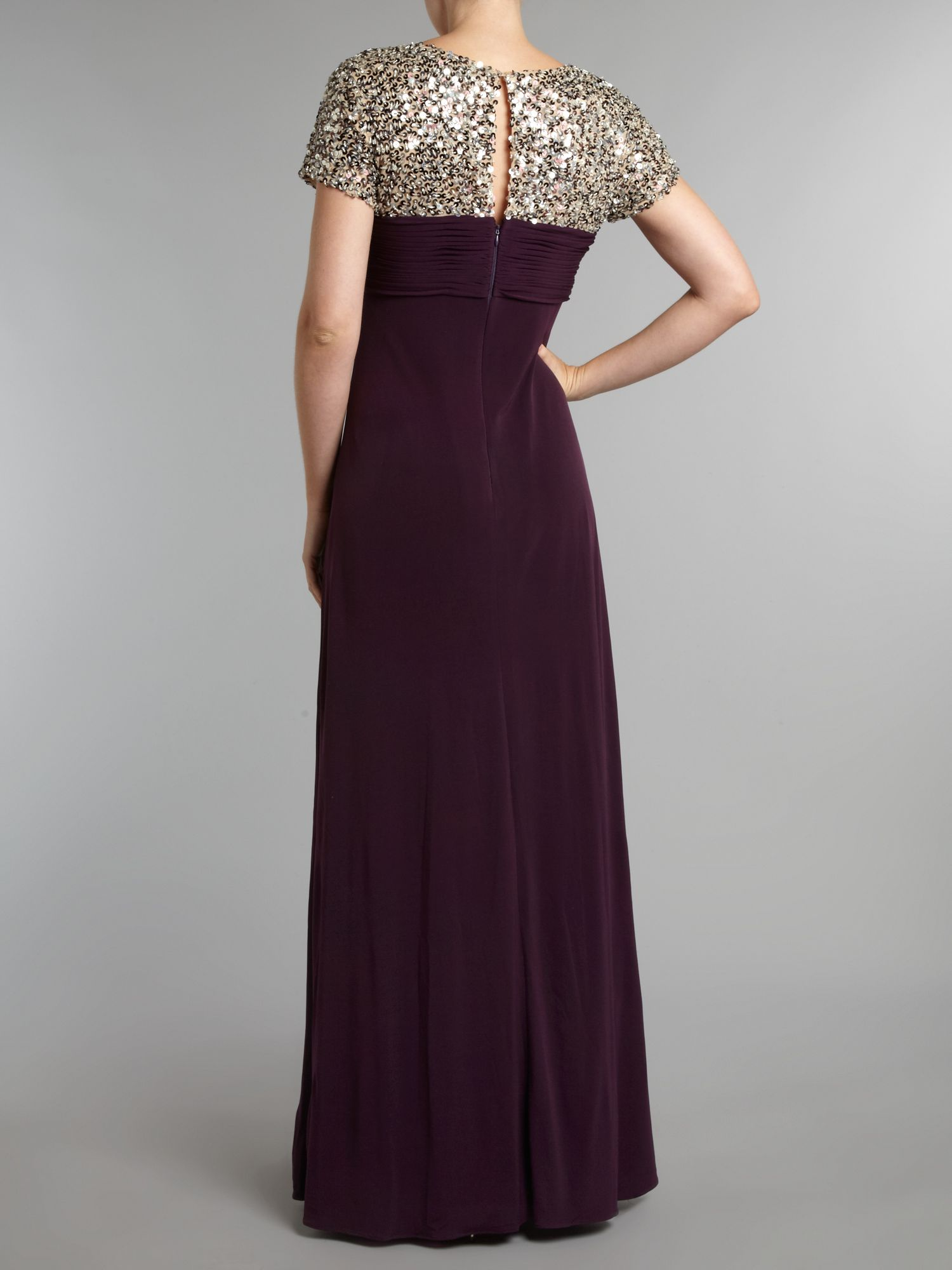Turmec » js collections cap sleeve lace panel dress