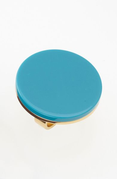 Kate Spade On The Dot Statement Ring in Blue (turquoise/ gold)