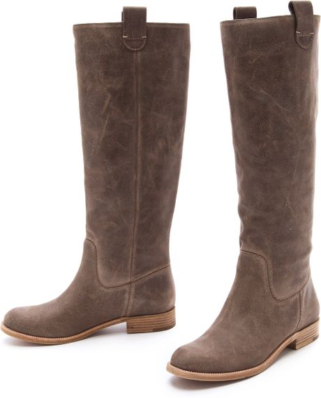 kors by michael kors amby knee high boots in beige lyst