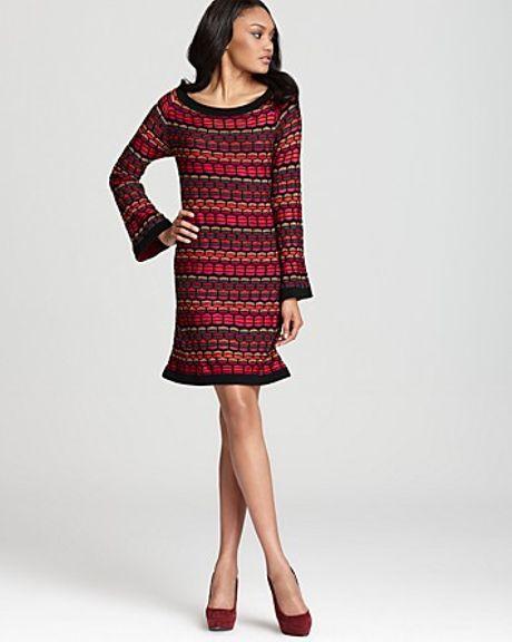 Laundry By Shelli Segal Wavy Stitch Long Sleeve Sweater ...
