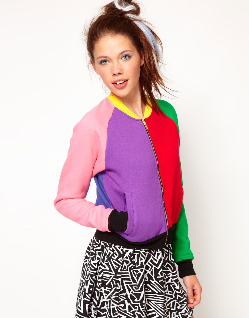 Coloured Bomber Jacket